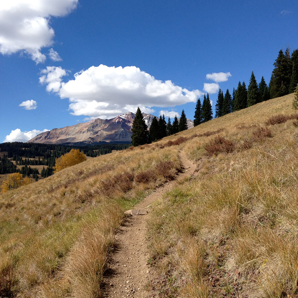 East Fork Trail winds over Lizard Head pass near Rico, Colorado