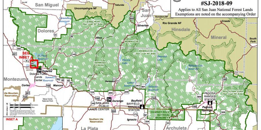 UPDATE: San Juan National Forest Re-opened June 21