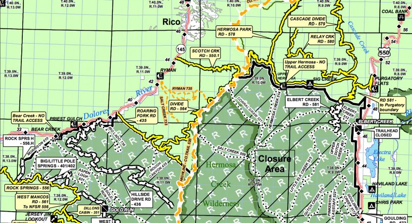 Closure Area Reduced & Fire Restrictions Lifted on San Juan National Forest