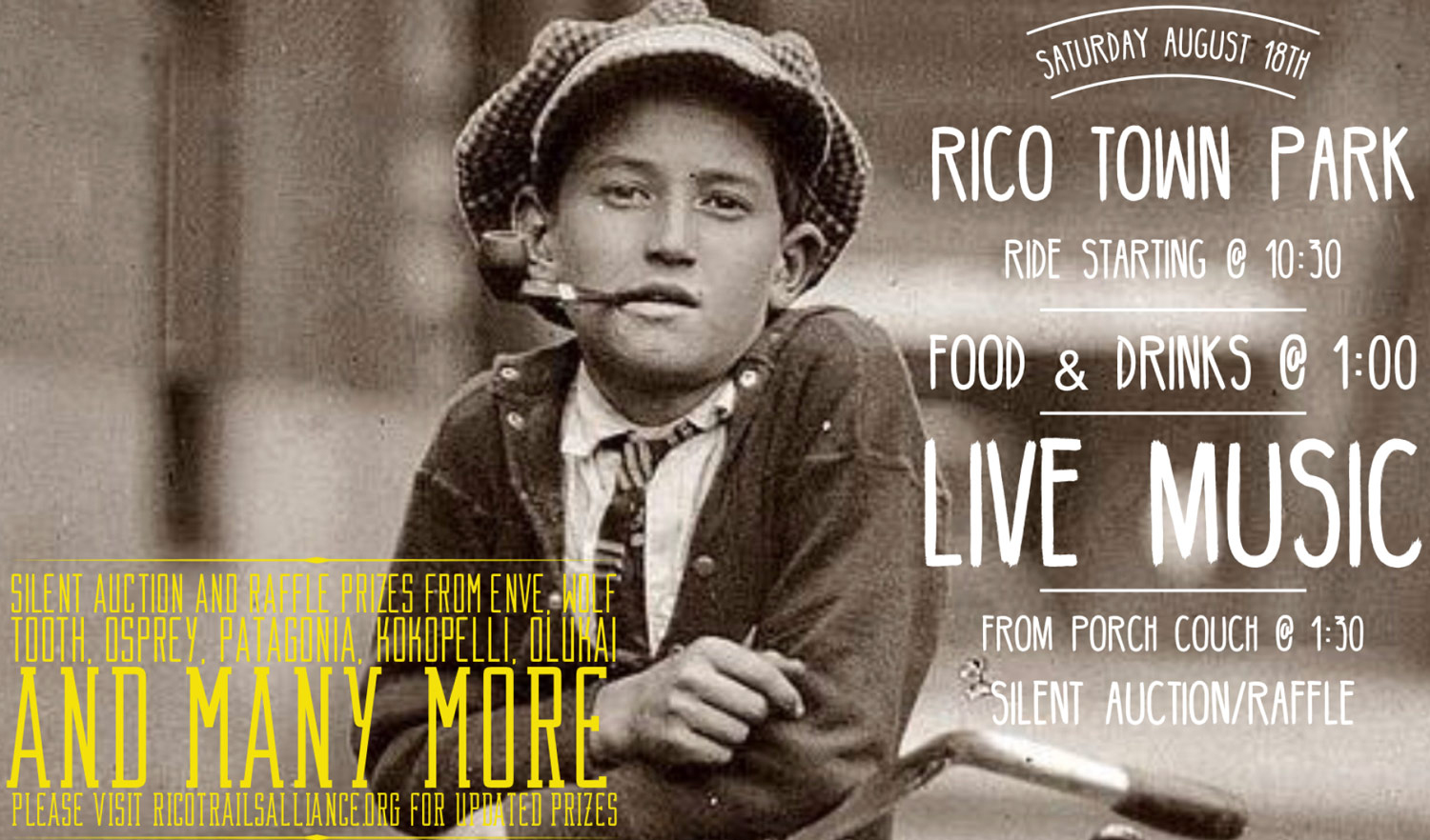 2nd Annual RTA Summer Ride & Fundraiser on August 18th - Rico Trails